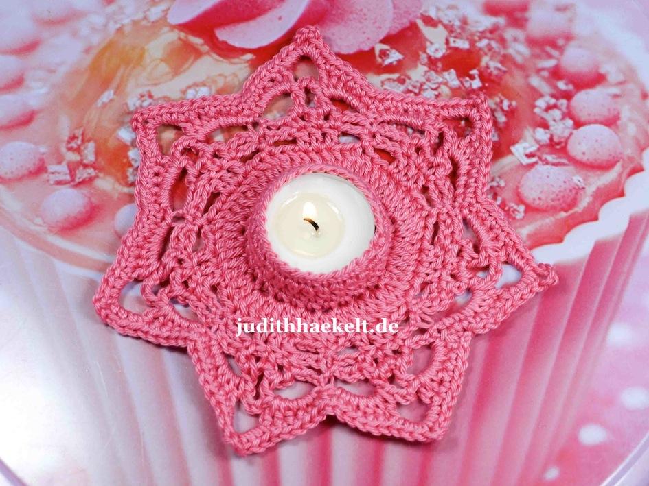Pinker Teelichthalter Judithhaekeltde