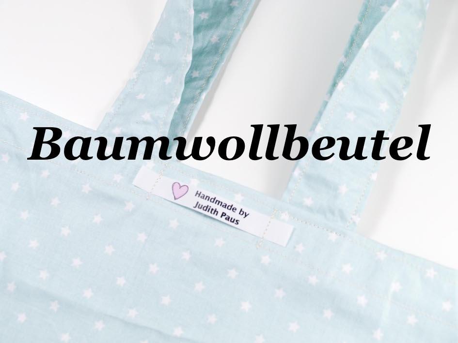 baumwollbeutel - www.judithhaekelt.de DIY