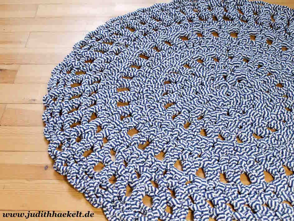Gut bekannt Teppich aus Textilgarn – judithhaekelt.de QV16