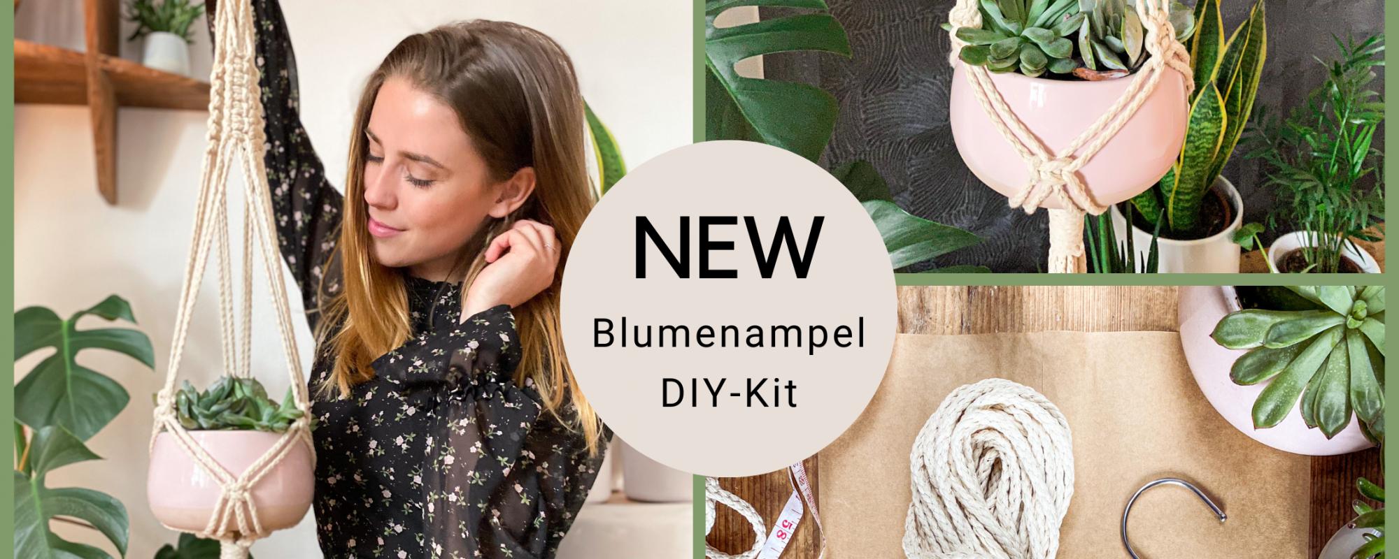 DIY Makramee Blumenampel
